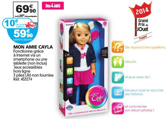 Mon Amie Cayla à 59€90 chez Auchan