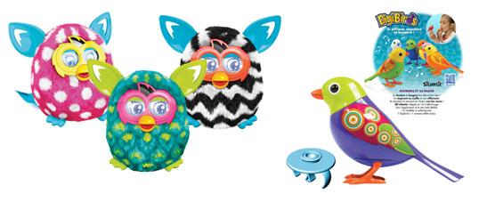 Les nouveaux Furby Boom et l'oiseau Digibird