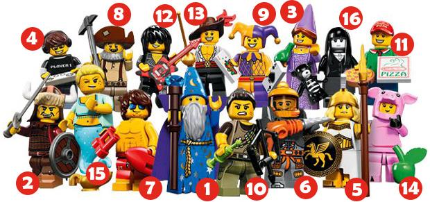 lego-71007-minifigurines-serie 12-numeros