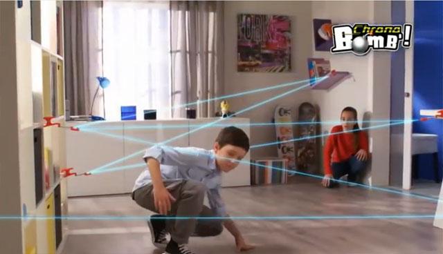 Chrono Bomb déjouez les lasers pour atteindre la cible