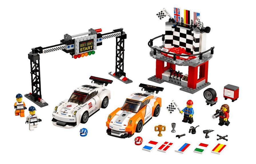 Porsche 911 GT et ligne d'arrivée - Lego 75912