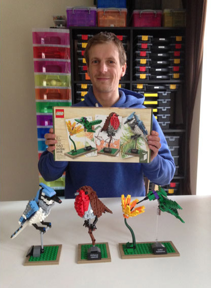 Tom Poulsom et son projet Lego Birds