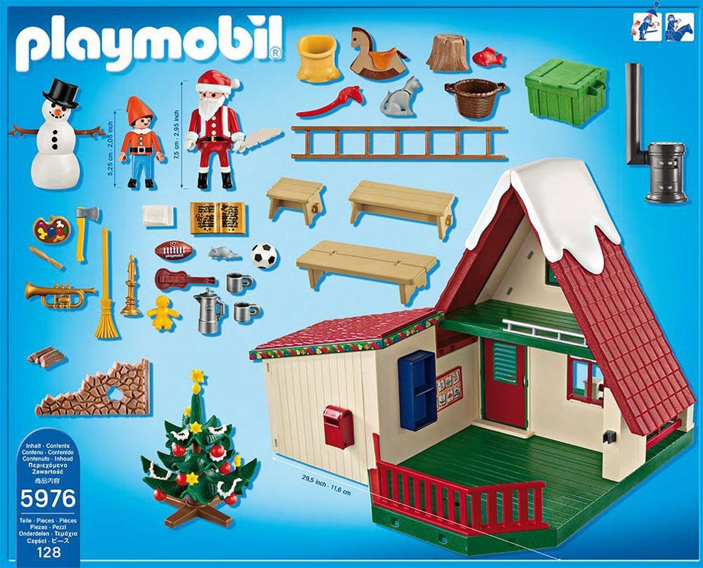 Playmobil le nouveau coffret la maison du p re no l pour 2015 r f 5976 - Gran casa de munecas playmobil ...