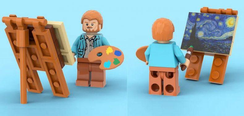Figurine lego de Vincent van Gogh
