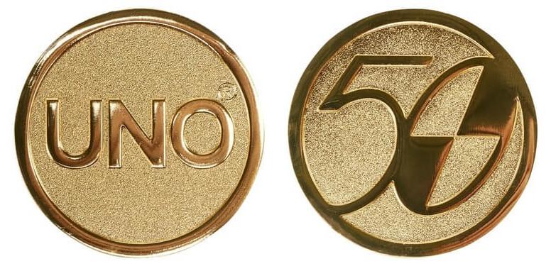 pièce d'or uno pour les 50 ans